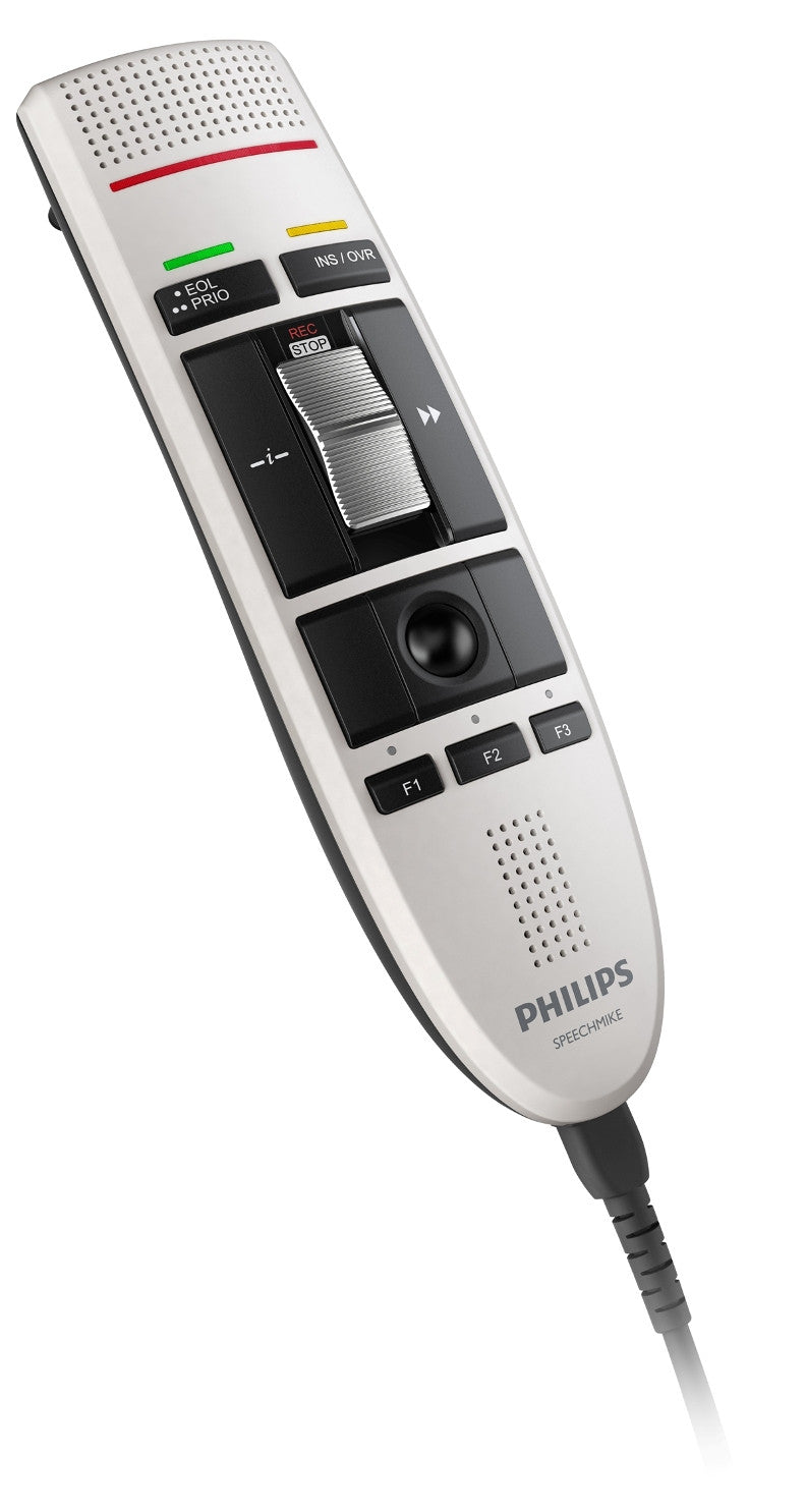 Philips LFH3210 SpeechMike III Classic (Slide Switch Operation) USB Professional PC-Dictation Microphone