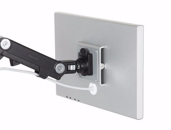 Humanscale M8 Wall Mount - Direct Hardwall Mount, Black With Black Trim, Fixed Straight Link / Dynamic Link