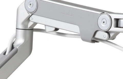 Humanscale M8 Monitor Mount Base Type: Bolt-Through, Finish: Silver with Gray Trim