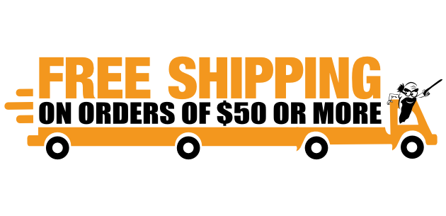 Free Shipping on Orders of $50 or More