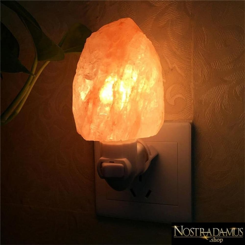 Lampe de nuit en cristal de sel de lHimalaya - LED Night Lights