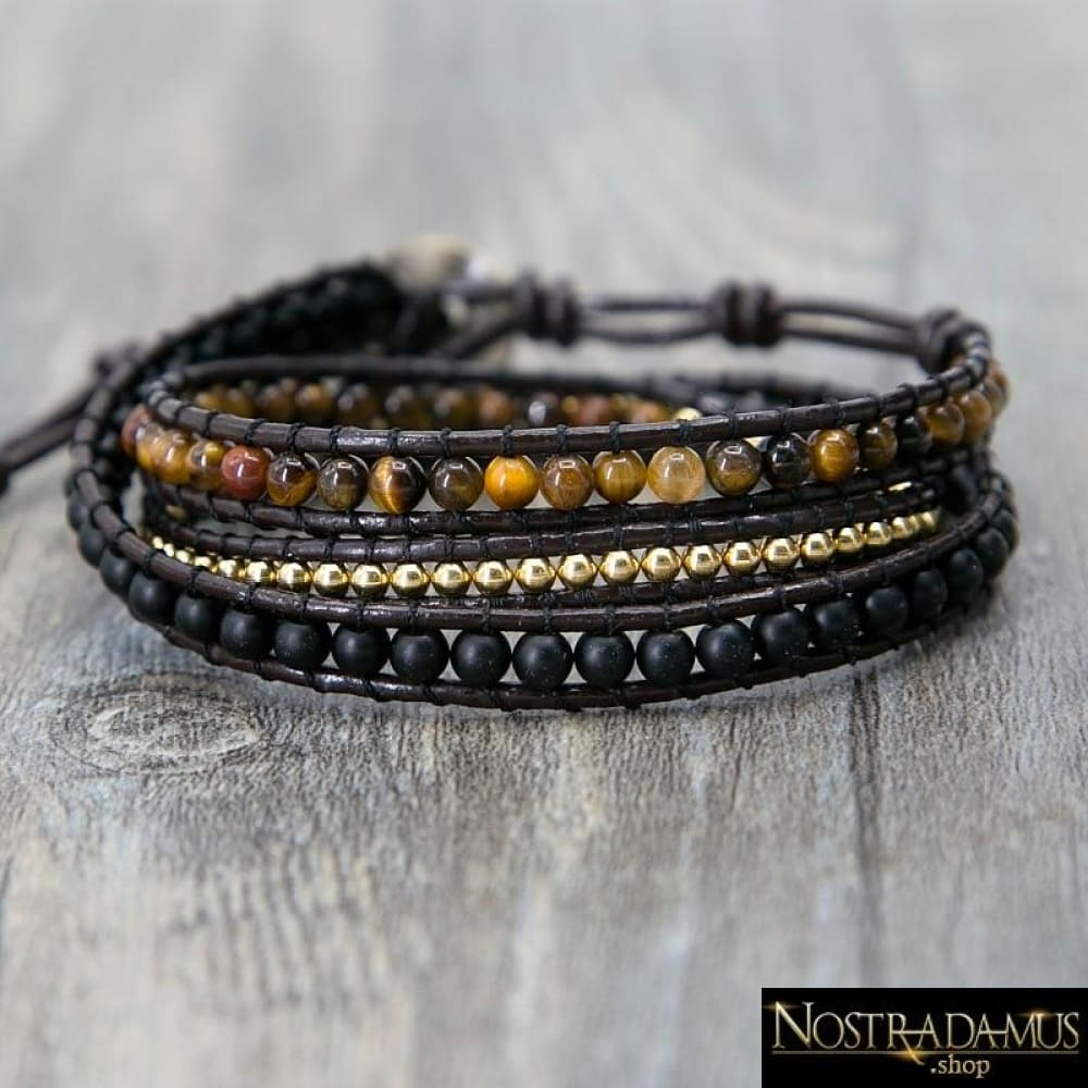 Triple Bracelet Protection & Action en il-de-Tigre - Wrap Bracelets