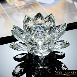 Fleur de Lotus en Cristal - 8 couleurs disponibles - Transparent - Figurines et Miniatures