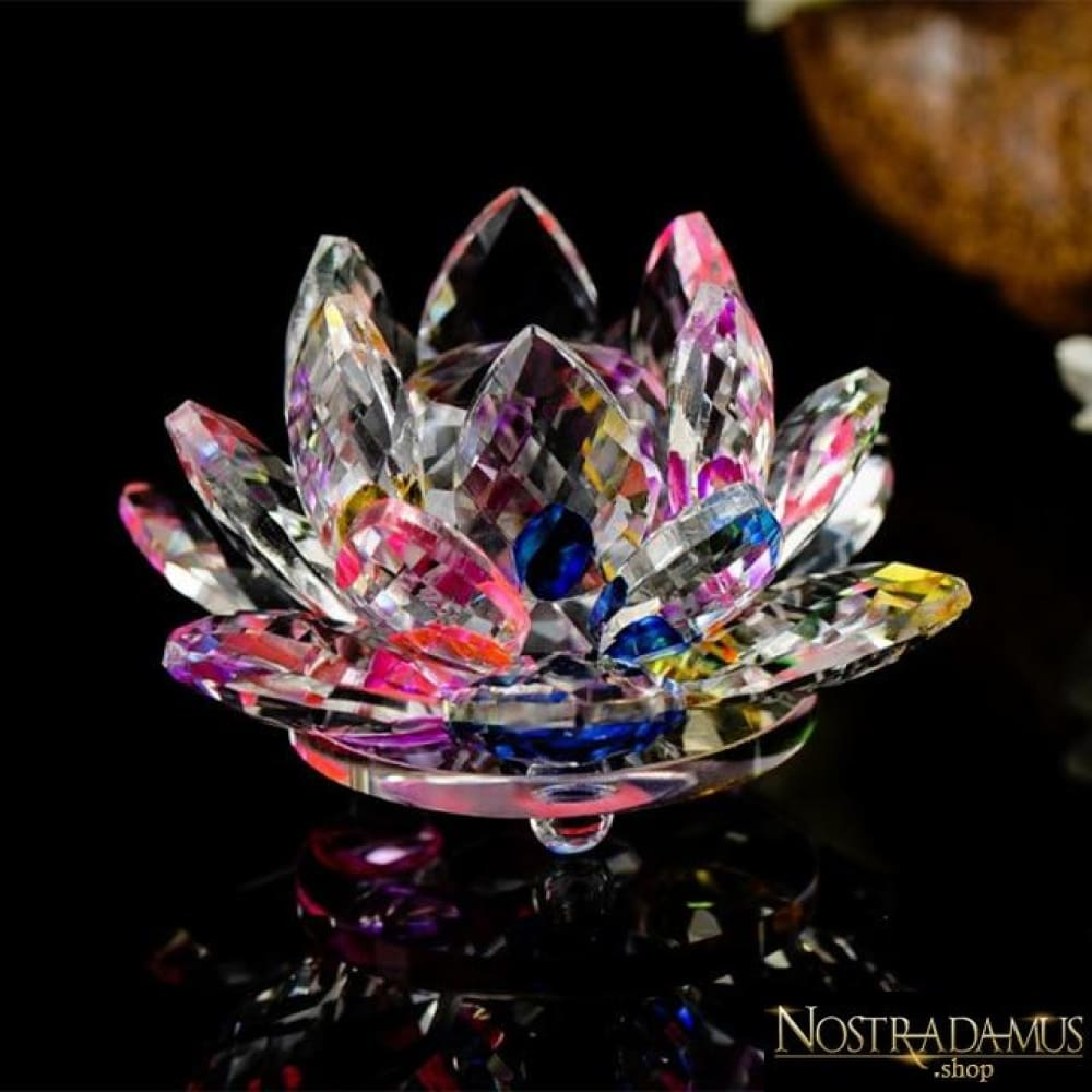 Fleur de Lotus en Cristal - 8 couleurs disponibles - Multicolore - Figurines et Miniatures