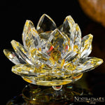 Fleur de Lotus en Cristal - 8 couleurs disponibles - Jaune - Figurines et Miniatures