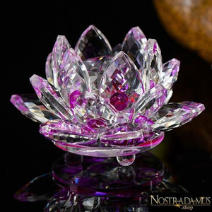Fleur de Lotus en Cristal - 8 couleurs disponibles - Violet - Figurines et Miniatures