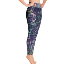 Load image into Gallery viewer, Tarpon Tale Purple Yoga Leggings