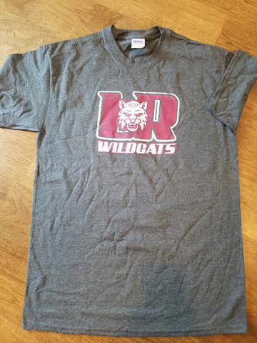 Dark grey LR wildcats cotton T-lots of sizes available