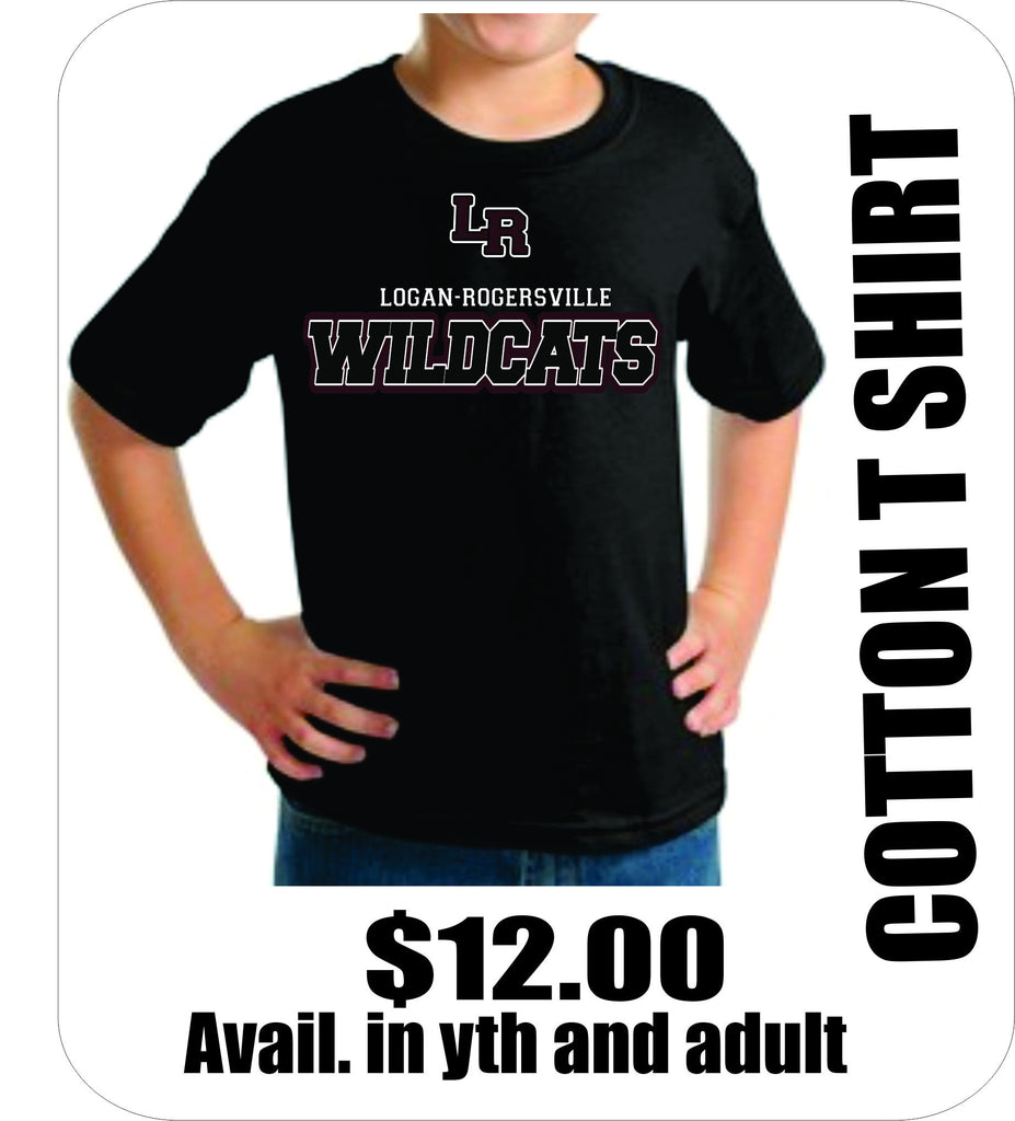 Black Cotton T WILDCATS logo