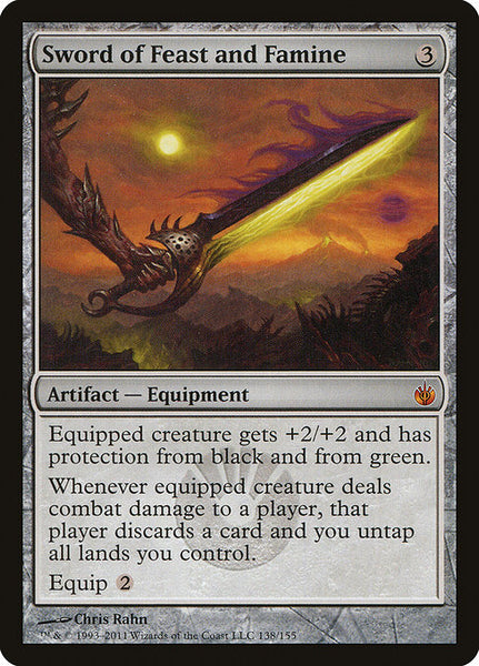 Sword Of Feast And Famine Mirrodin Besieged Heavily