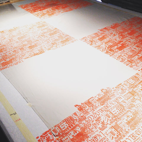 Screenprinting table.