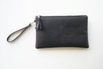 Wristlet Clutch Purse - Black Cork