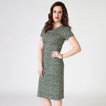 Bodycon Dress - Fauna de la Costa Print Forest Green