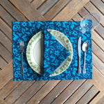 Set of Four Placemats - Pasto Print Turquoise