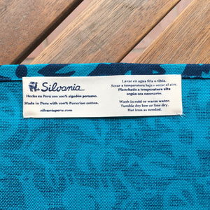 Set of Four Napkins - Pasto Print Turquoise