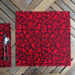 Set of Four Napkins - Pasto Print Red