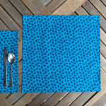 Set of Four Napkins - Fauna de la Costa Print Turquoise