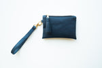 Wristlet Mini Purse - Navy Cork