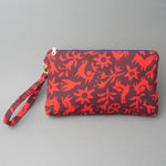 Wristlet Clutch Purse - Pasto Print Red