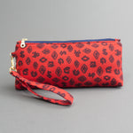 Wristlet Travel Purse - Fauna de la Costa Print Red