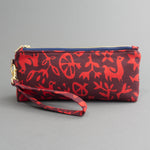 Wristlet Travel Purse - Pasto Print Red