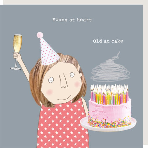 Rosie Made a Thing Card Old at Cake Girl
