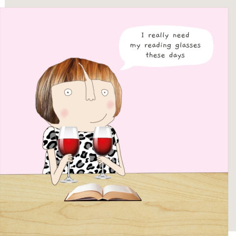 Rosie Made a Thing Card Reading Glasses