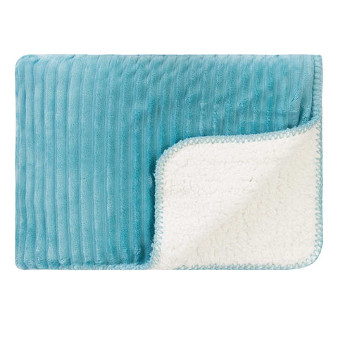 Sherpa Cord Stitch Throw Nile Blue