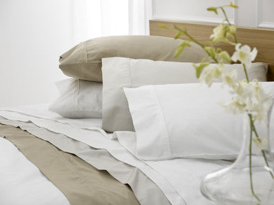 Baksana 1000TC Cotton Flat Sheets White