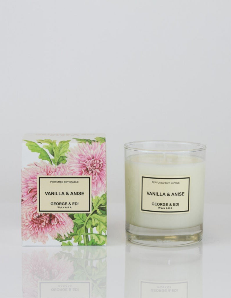 George & Edi Perfumed Candle Standard Vanilla and Anise