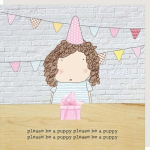 Rosie Made a Thing Greeting Card Puppy