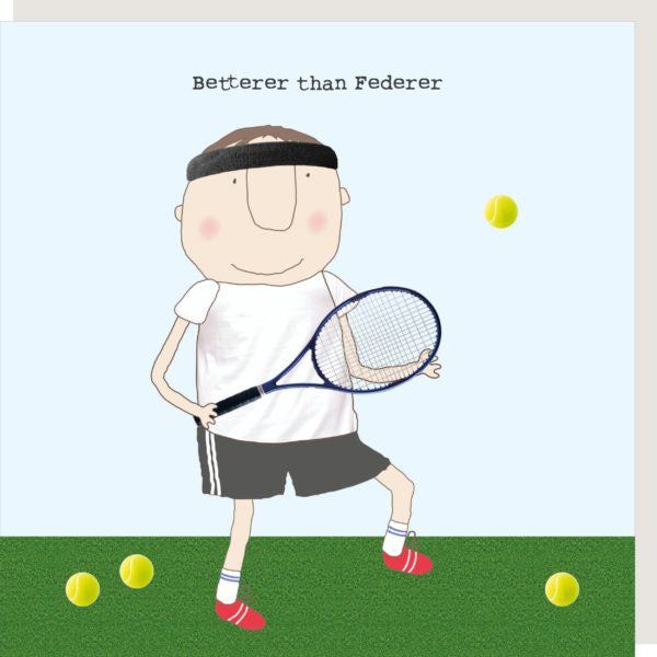 Rosie Made a Thing Greeting Card Federer