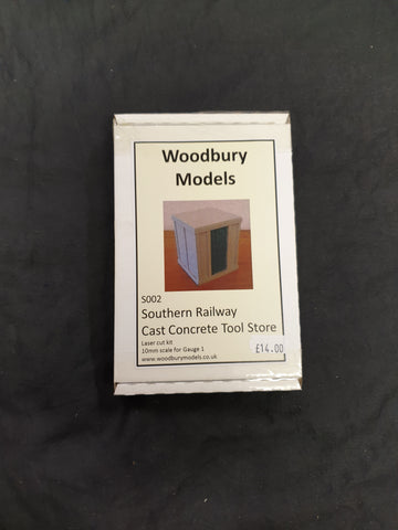 Woodbury Models Gauge 1 Southern Railway Cast Concrete Tool Store