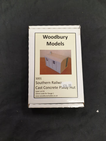 Woodbury Models Gauge 1 Southern Railway Cast Concret P.Way Hut