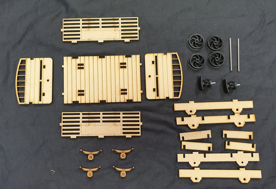 Ash Models - 16mm Laser Cut Wagon and Carriage kits