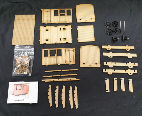 16mm 1st Class/Luggage Coach Kit