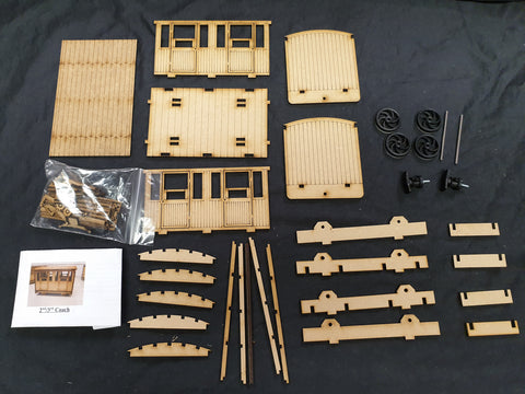 16 mm 2nd/3rd class Coach Kit - CURRENTLY OUT OF STOCK