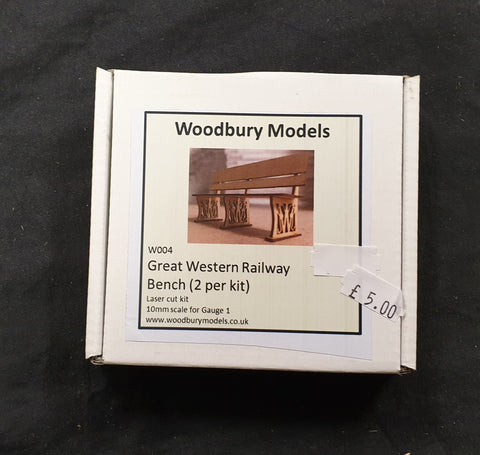 Woodbury Models Gauge 1 GWR Railway Bench Kit