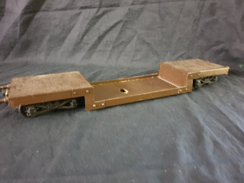 Sm32 scratch built low loader wagon.