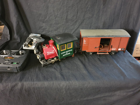 Gauge 1/G-scale R/C Porter Electric loco and LGB box car