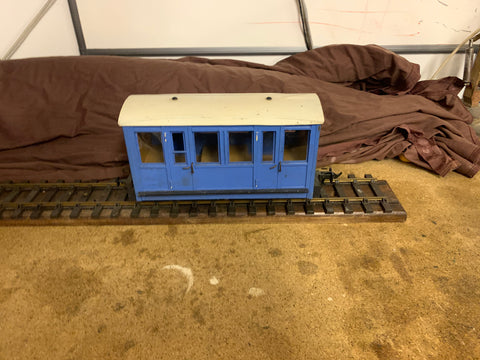 Scratch Built 16mm 4-Wheel Compartment Coach (45mm)