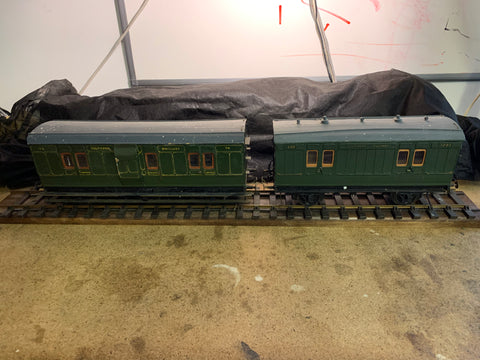 Gauge 1 - 10mm scale Southern Railway Luggage and Parcel Van combo