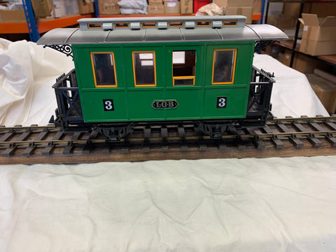 LGB - G/Scale 4 wheel coach in Green Livery