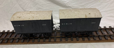 2 x Gauge 1 - 10mm scale MSWJR Goods Van