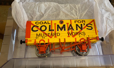 Accucraft 1;32nd scale Colman's Mustards Works Wagon NIB