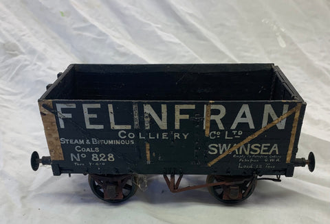 Gauge 1 - 10mm scale 7 plank Private Owner coal wagon