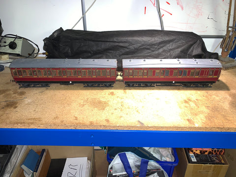 Gauge 1 10mm scale MSWJR 2 coach Set