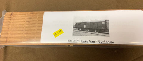 Ken West 1:32nd 36ft SR Brake/Utility wagon kit