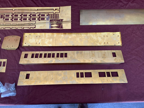 Gauge 1 10mm scale West Coast Joint Stock Brake/3rd Etched Coach Kit