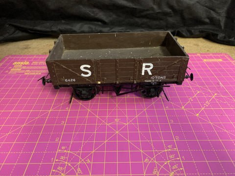 2 x Gauge 1 10mm scale Southern Railway 5 plank Wagons